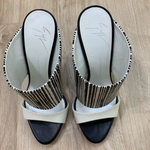 Giuseppe Zanotti Design black and white heels